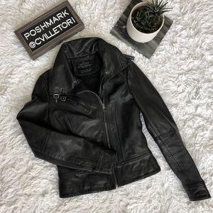 All Saints Belvedere 100% Genuine Leather Jacket 4